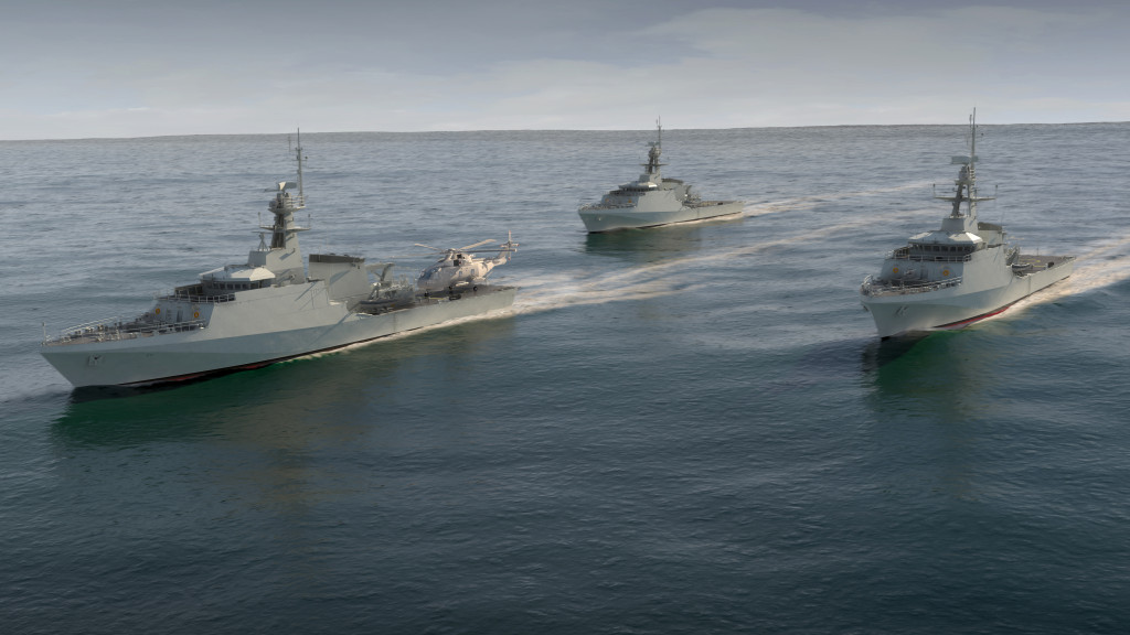The three vessels are ideal for performing maritime security in British territorial waters