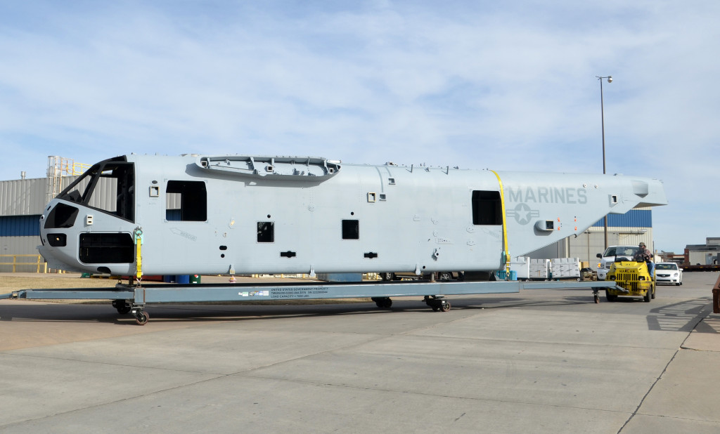 Spirit AeroSystems has design and build responsibility on the composite fuselage for the Sikorsky CH-53K helicopter