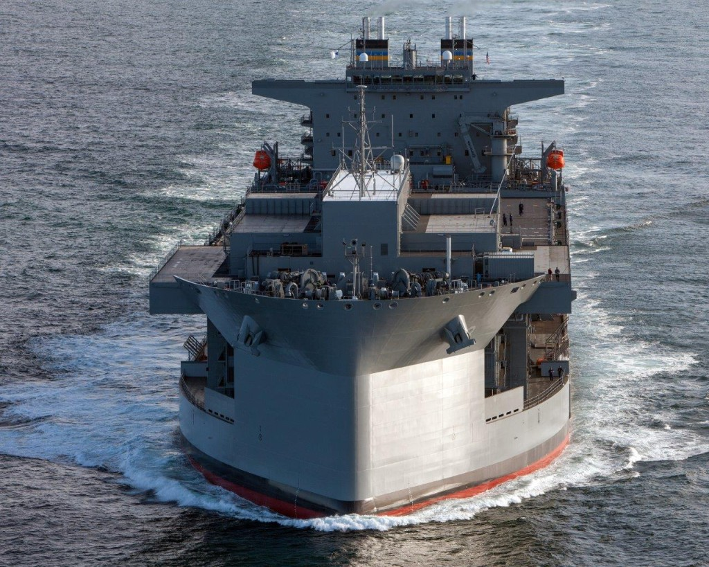 The USNS Lewis B. Puller (MLP-3/AFSB-1) undergoes Builders Trials April 9th, 2015