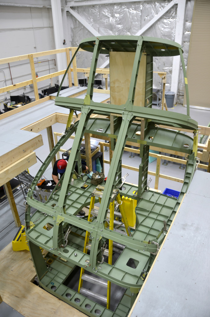 Textron has started on the fuselage assembly