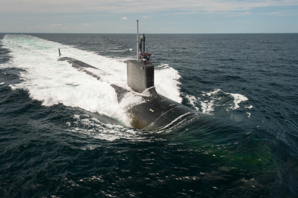 The submarine USS John Warner (SSN-785) delivered on June 25, 2015, two and a half months ahead of schedule (Photo by Chris Oxley/HII)