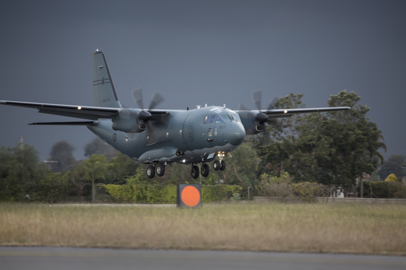 The first C-27J Spartan for the RAAF touched down at RAAF Base Townsville on 24 June before travelling onwards to its new home of RAAF Base Richmond (Commonwealth of Australia, Department of Defence)