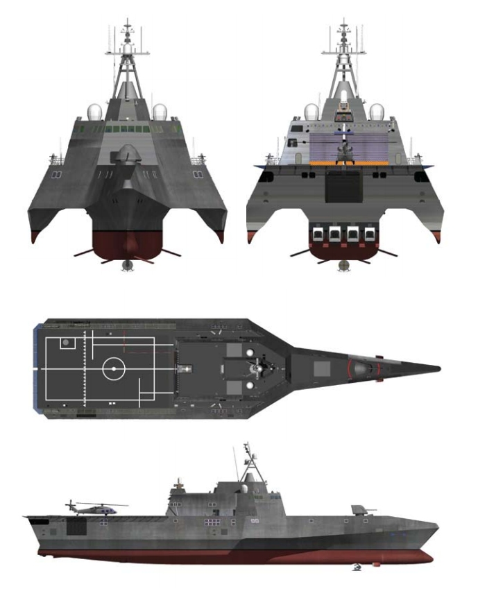 The Independence Variant of the LCS Class is a high speed, agile, shallow draft and networked surface ship