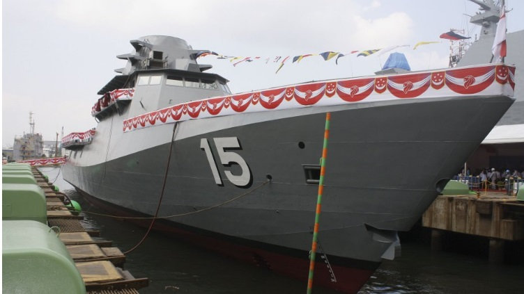 The RSN's first-of-class LMV, Independence, during its launch ceremony on 3 July 2015 (Source: IHS/Ridzwan Rahmat)