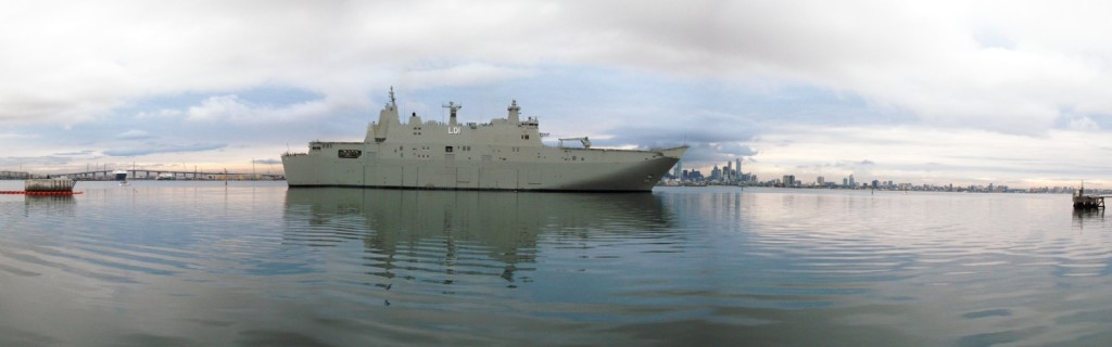 The second ship, HMAS Adelaide, is planned to commission in 2016