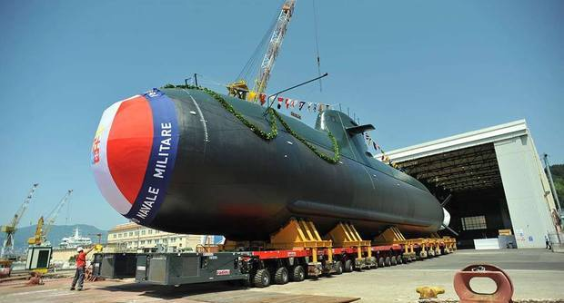 ITS Romei, launched on July 4 at Fincantieri's yard at Muggiano, is the final of four U212A diesel-electric submarines on order for the Italian Navy