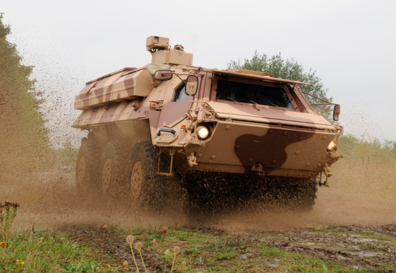 Despite its age, Rheinmetall's Fox remains the dominant western NBC reconnaissance vehicle, and Kuwait's will be the first to feature an additional biological detection capability (Rheinmetall photo)