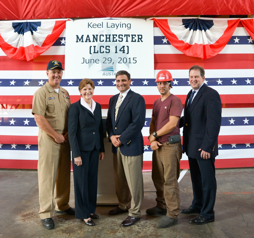 Keel Laying for USS Manchester (LCS 14)