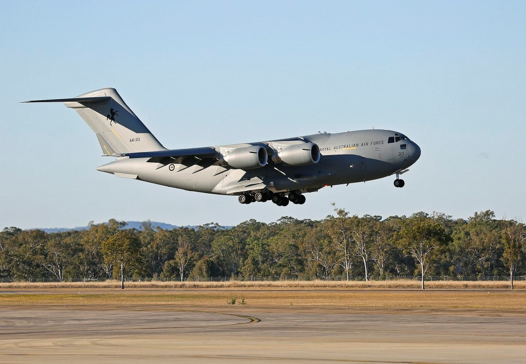 On 29 July 2015, the seventh C-17A Globemaster III for the Royal Australian Air Force touched down at RAAF Base Amberley on its delivery flight to Australia