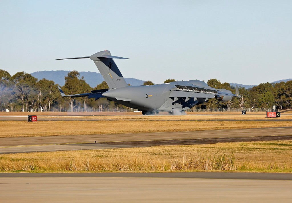 The aircraft, serial A41-213, will join a fleet of C-17As operated by No. 36 Squadron, providing a strategic airlift capability for Australia, as well as tactical roles such as airdrop