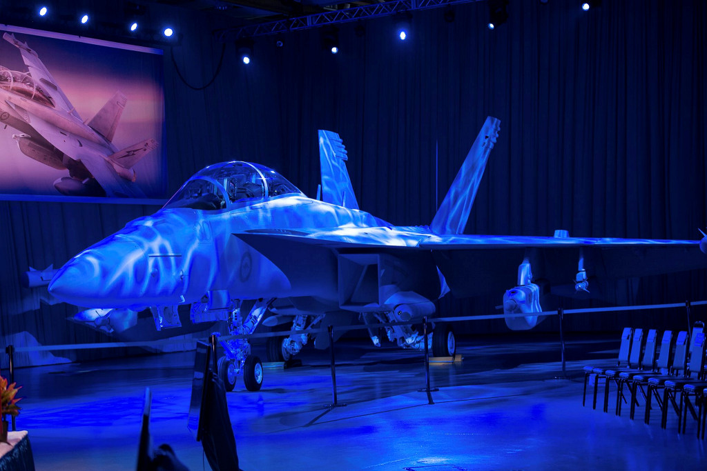 Boeing unveils first Royal Australian Air Force EA-18G Growler at a rollout ceremony July 29 in St. Louis, Missouri