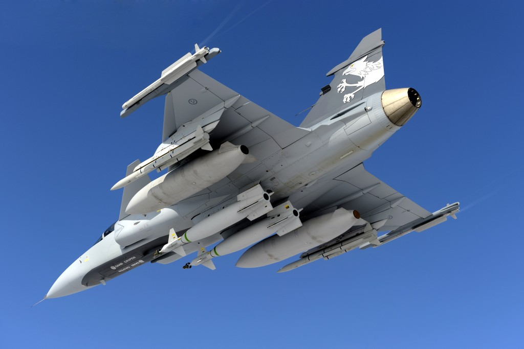 Gripen NG has a canard/delta wing configuration with relaxed stability. A triplex fly-by-wire aerodynamic control system enables stable and precise flight with highly agile maneuvering