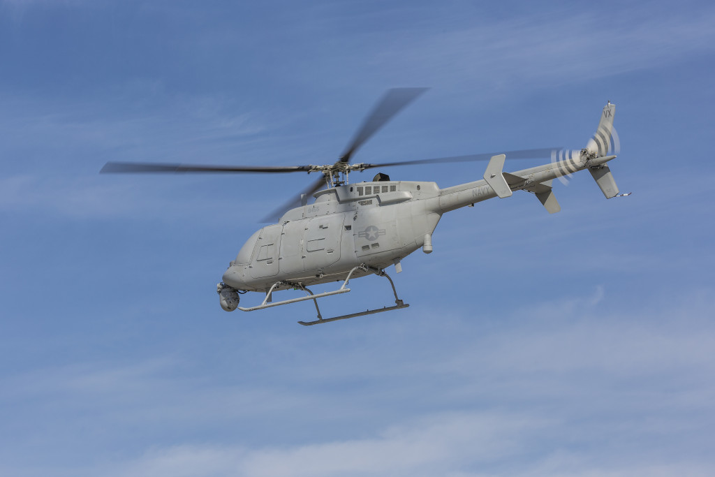 MQ-8C Fire Scout demonstrates a long range, long endurance flight part of a capability based test at Naval Base Ventura County, Point Mugu (Photo by Northrop Grumman)