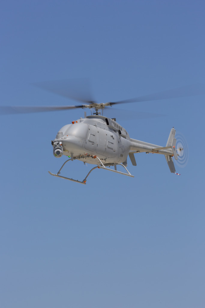 Unmanned helicopter providing unprecedented maritime multiple intelligence persistence (Photo by Northrop Grumman)