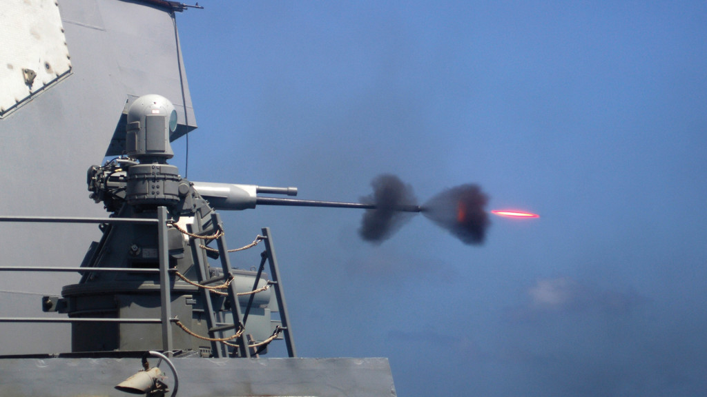 The Mk-38 Mod 2 Machine Gun System (MGS) from BAE Systems