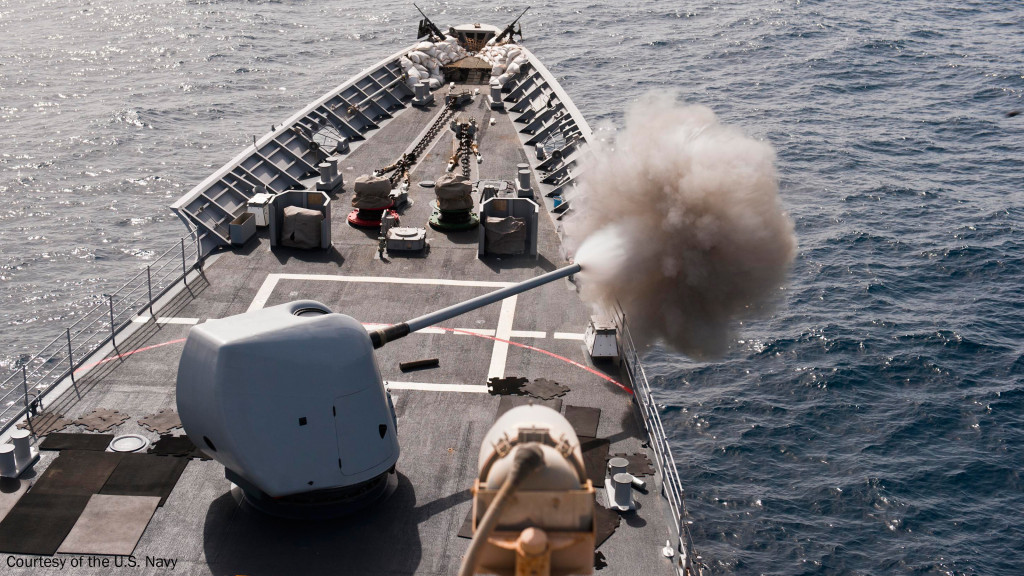 The most widely deployed 5-inch/127-mm naval gun in the U.S. Navy