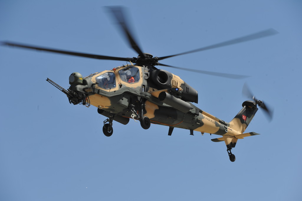 T129 ATAK advanced attack and tactical reconnaissance helicopter
