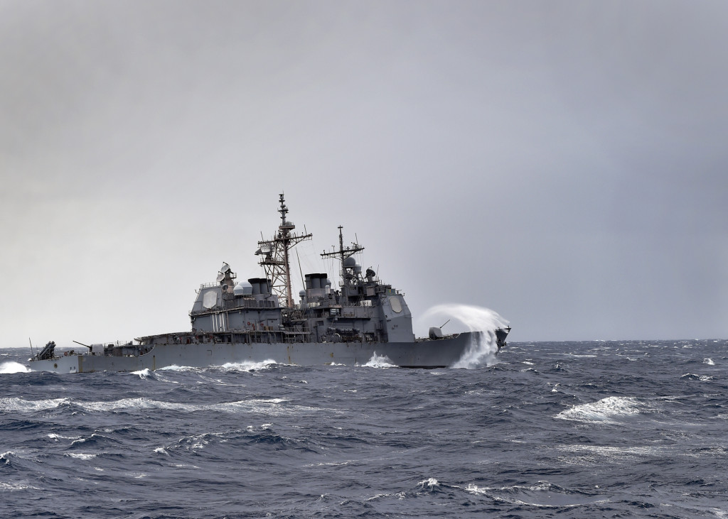 The guided missile-cruiser USS Anzio (CG-68) is en route to Scotland to participate in Joint Warrior, a United Kingdom-led semi-annual multinational cooperative training exercise. (U.S. Navy photo by Mass Communication Specialist Seaman Ryan U. Kledzik/Released)