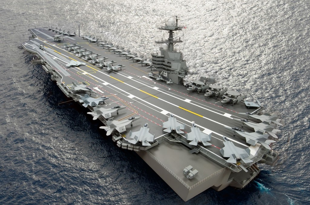 A composite photo illustration representing the Ford-class aircraft carrier, USS John F. Kennedy (CVN-79). The carrier, underconstruction at Newport News Shipbuilding, is the second Ford-class nuclear-powered aircraft carrier and the second U.S. Navy carrier named for the 35th U. S. President