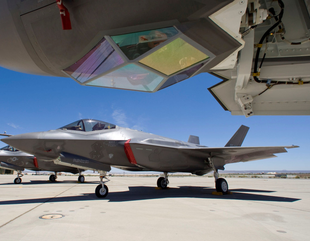 Lockheed Martin announced delivery of the 100th Electro-Optical Targeting System for the F-35 Lightning II in July 2013 (Photo by Lockheed Martin)