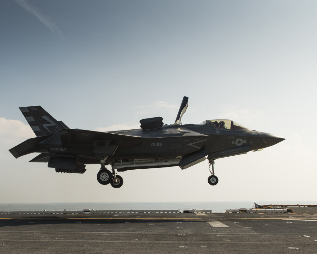 The F-35 Lightning II Electro-Optical Targeting System supports all F-35 variants, including the F-35B pictured above (Photo by Lockheed Martin)