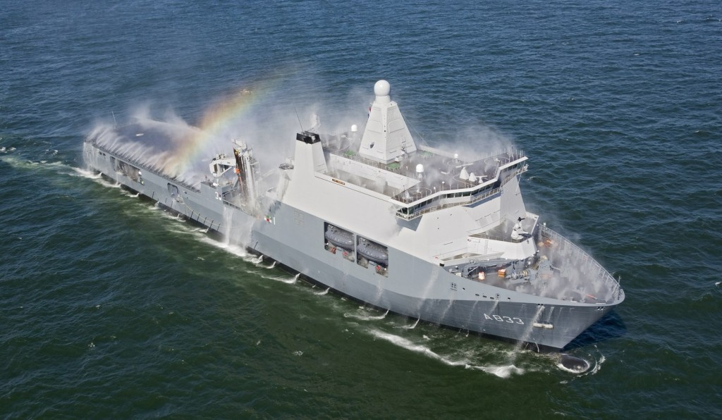 The Joint Logistic Support Ship Karel Doorman (A833) is being built to ensure that the Netherlands armed forces will remain able to conduct operations outside the national boundaries in the future