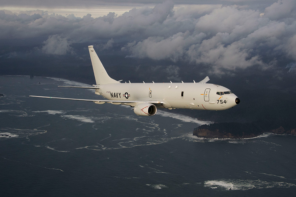 P-8 has the ability to control unmanned air vehicles (level 2 control-receive) to extend sensor reach