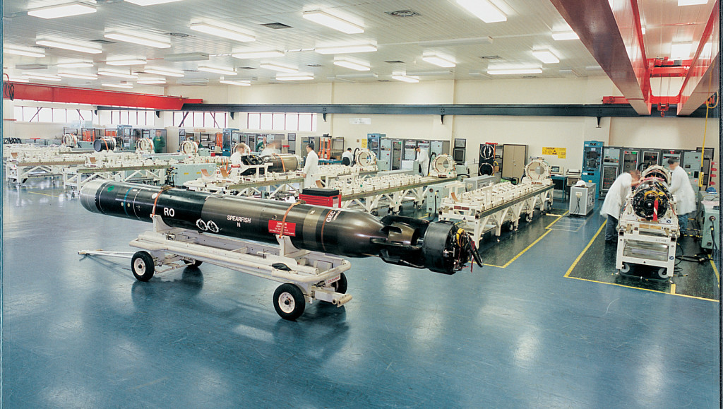Spearfish Heavyweight Torpedo Production