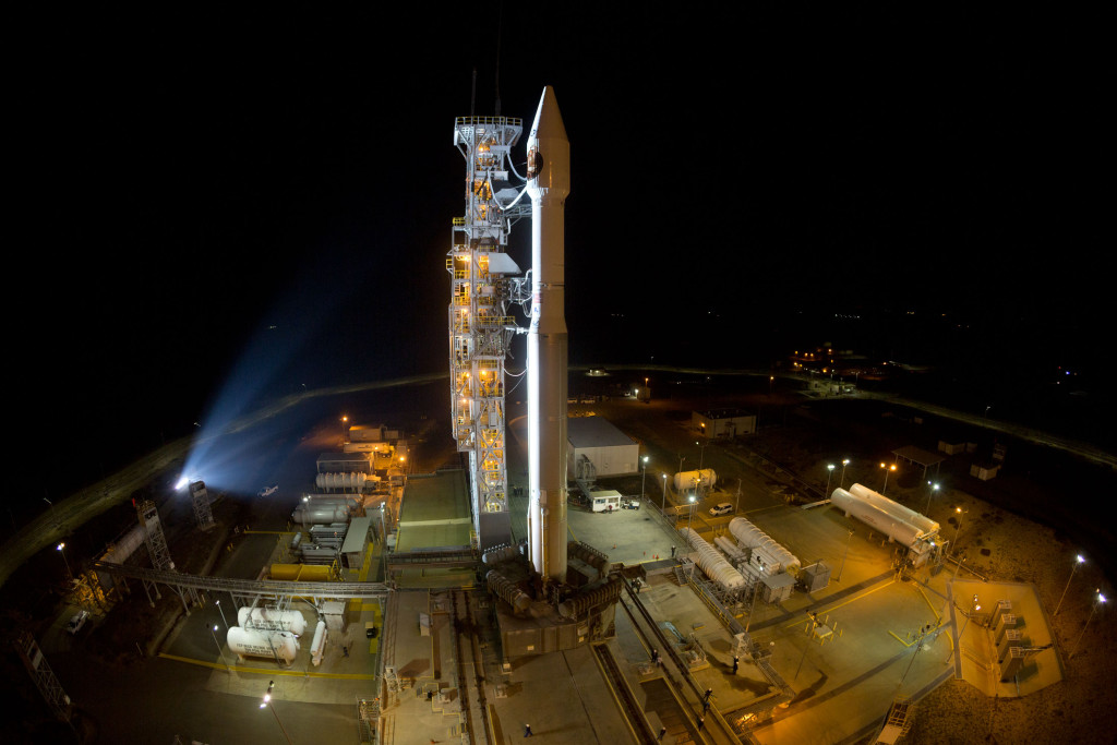 An Atlas V rocket stands ready to launch the National Reconnaissance Office's NROL-55 mission from Vandenberg's Space Launch Complex-3