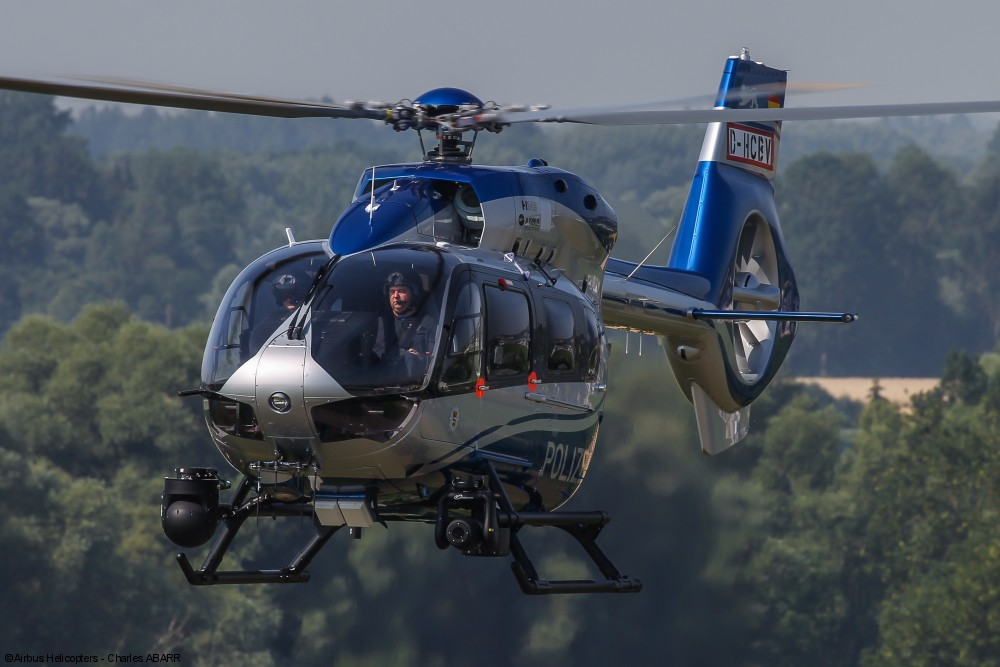H145 Polizei Baden-Württemberg in flight