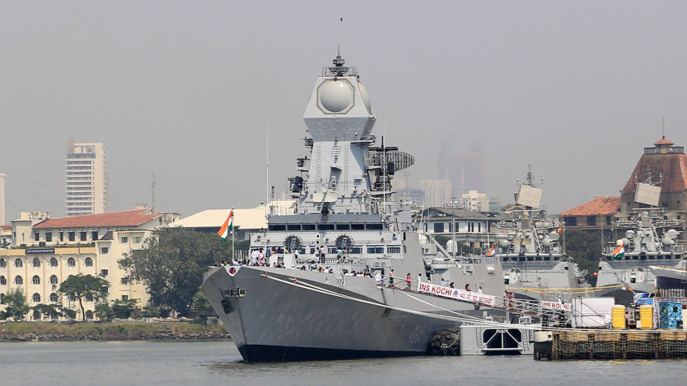 Commissioned into the Indian Navy this morning, INS Kochi is the second of three planned Kolkota-class missiles destroyers