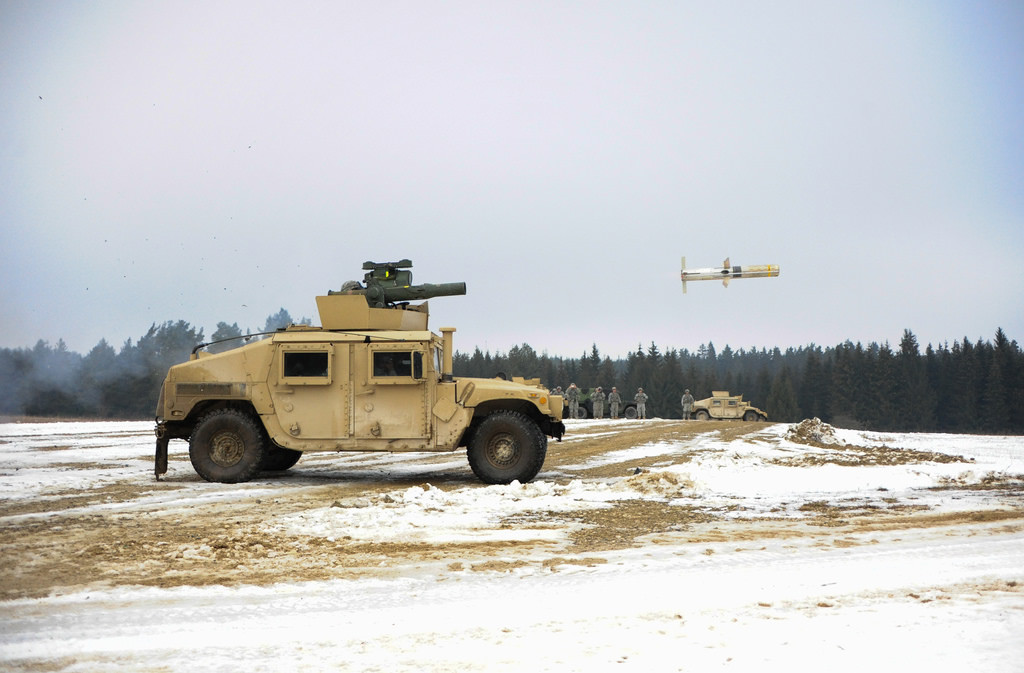 A TOW 2B missile is fired during a live-fire exercise at the Joint Multinational Training Command in Grafenwoehr, Germany, Feb. 1, 2014. (Photo: U.S. Army)