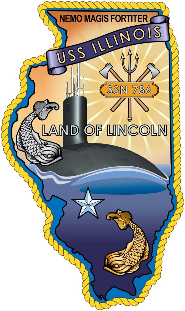 The emblem of the USS Illinois (SSN-786)
