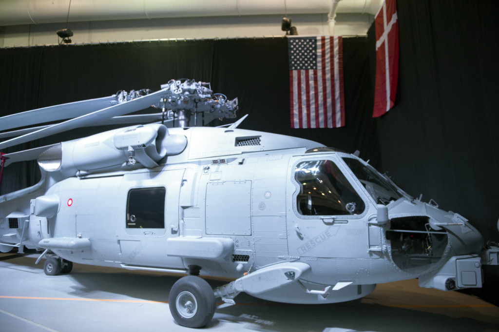 The U.S. Navy accepted the first Danish MH-60R Romeo aircraft in a ceremony on October 22, 2015