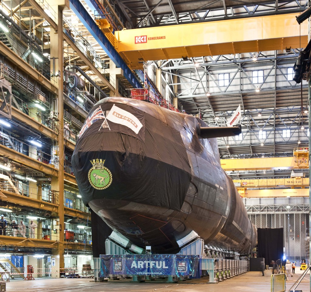 HMS Artful (S121) – a 7,400 tonne, 97-meter long attack submarine