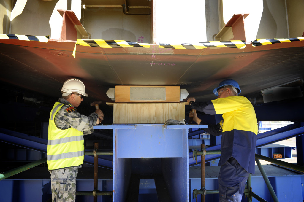 The keel for the third air warfare destroyer (AWD) on order for the Royal Australian Navy (RAN) was laid down on 19 November