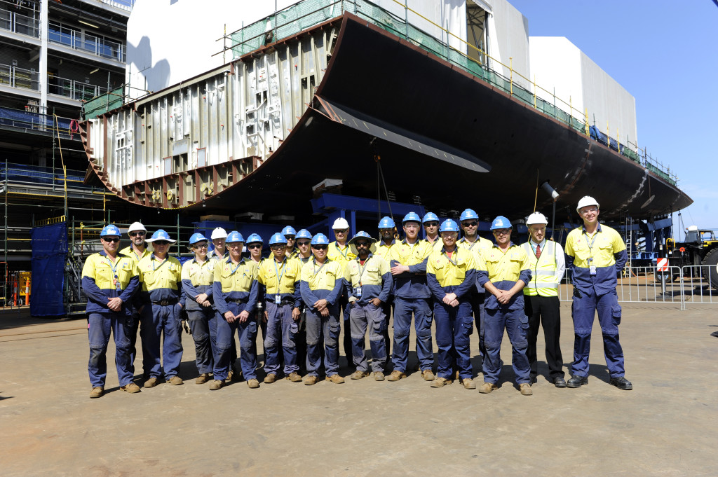 The vessel, which will be the future HMAS Sydney, is the last of three 6,350-tonne Hobart-class ADWs ordered under a contract signed in October 2007