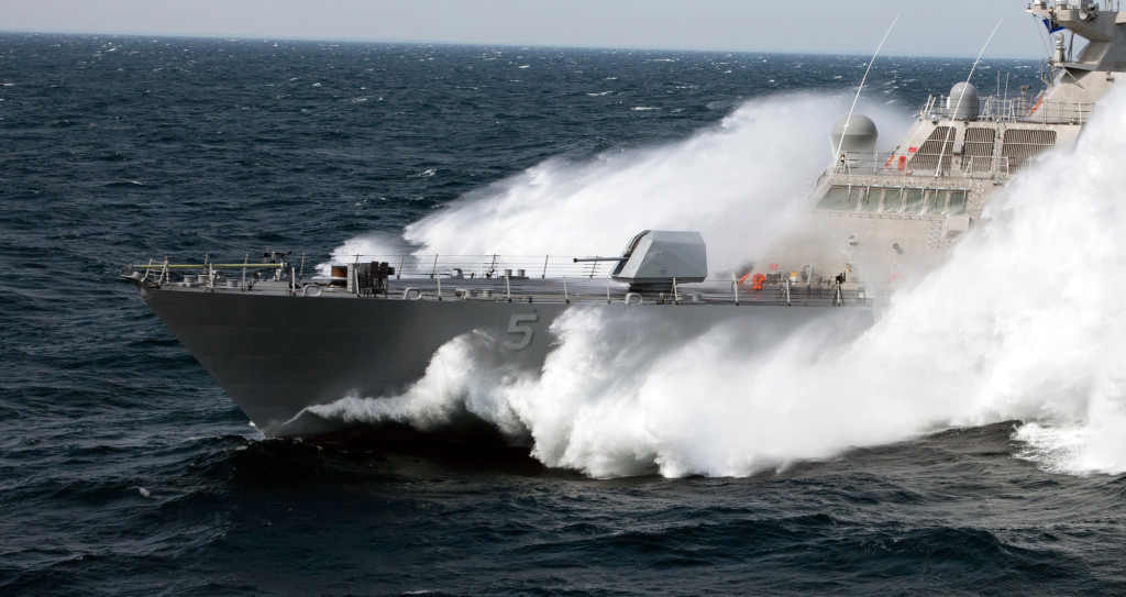 Slicing its way through the choppy waters of Lake Michigan, the future USS Milwaukee (LCS-5) passed its final test, earning high marks and a thumbs-up from the U.S. Navy after successfully completing its acceptance trial September 18
