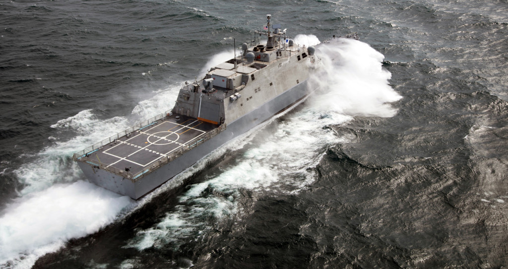 She will join her sister Freedom-variant littoral combat ships, USS Freedom and USS Fort Worth, in the Fleet