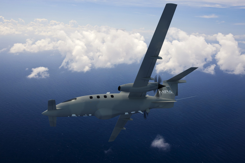 Piaggo's new maritime patrol variant of the Avanti twin-turboprop follows the HammerHead unmanned ISR drone, and is intended to evolve into a family of optionally-manned aircraft (Piaggio photo)