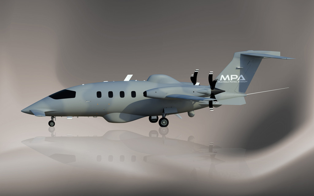 The Piaggio Aerospace Multirole Patrol Aircraft represents the evolution of the Piaggio Aerospace P.180 Avanti II aircraft