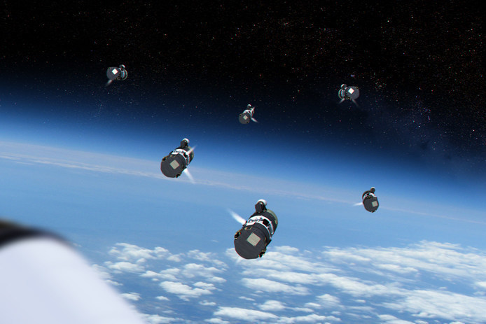 Raytheon Company is developing a Multi-Object Kill Vehicle that will simultaneously defeat a number of ballistic missile threats in space. The company's cutting-edge approach represents the next generation of technology in kill vehicles (PRNewsFoto/Raytheon Company)