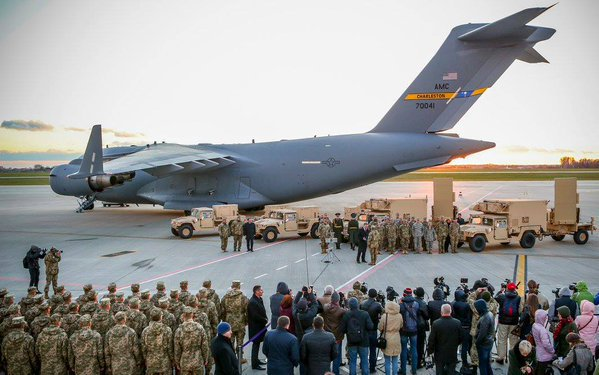 During an official ceremony on Lviv airport attended by ranking government officials, the U.S. government formally delivered two AN/TPQ-36 counter-battery radars to Ukraine, transported to destination by a U.S/ Air Force C-17 airlifter (U.S. State Department photo)