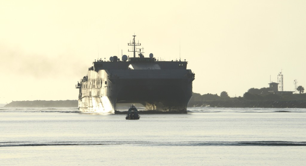 After delivery of EPF-6, Austal will deliver a further four Expeditionary Fast Transports from its shipyard at Mobile, Alabama, under a 10-ship, US$1.6 billion contract from the Navy