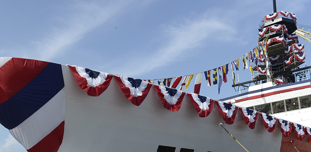 Ingalls Shipbuilding Christens Sixth National Security Cutter, Munro