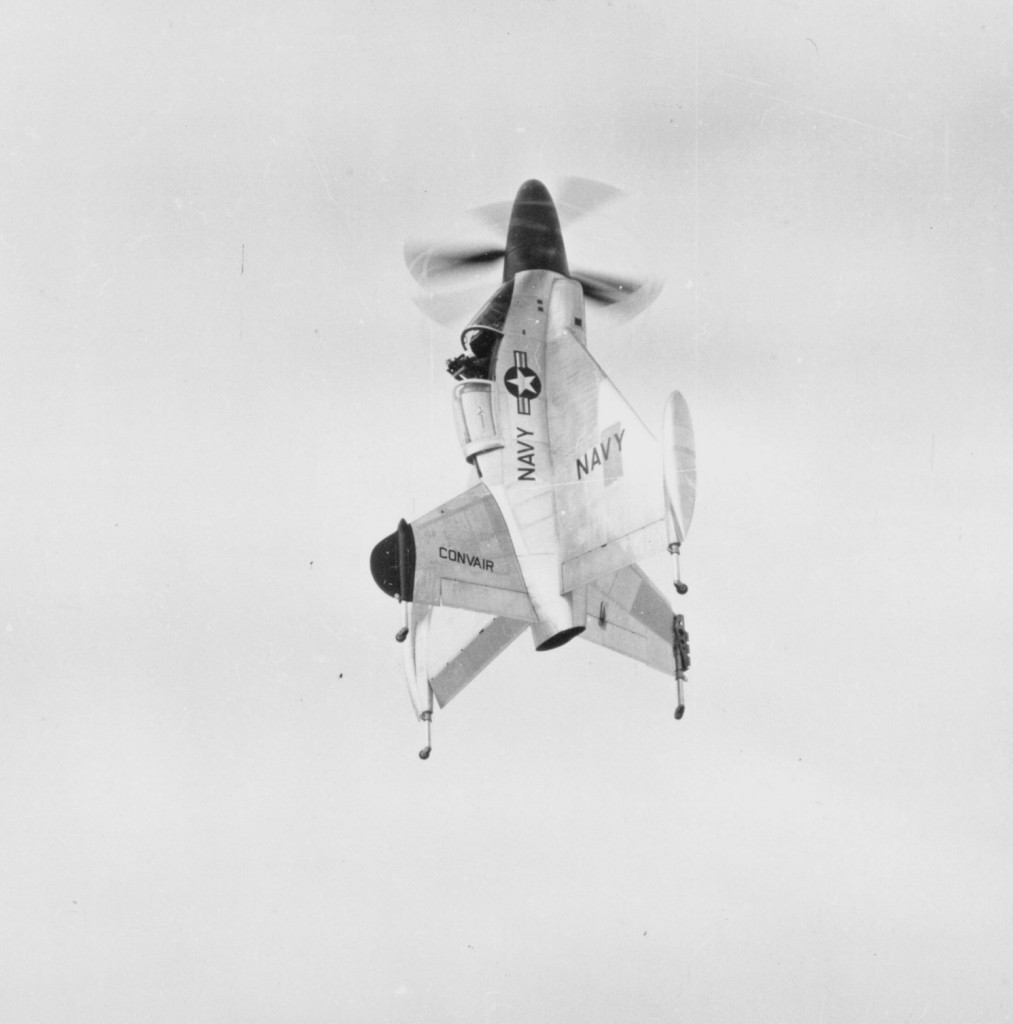The Convair XFY-1 Pogo is one of many attempts made after World War II to devise a practical VTOL combat aircraft