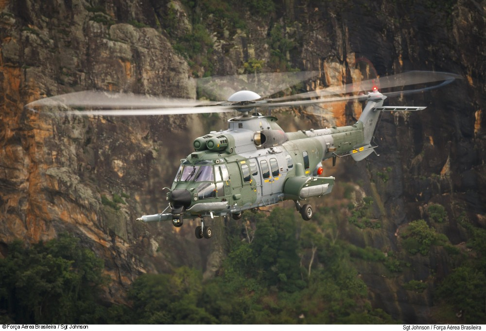 Brazilian Armed Forces H225M in flight
