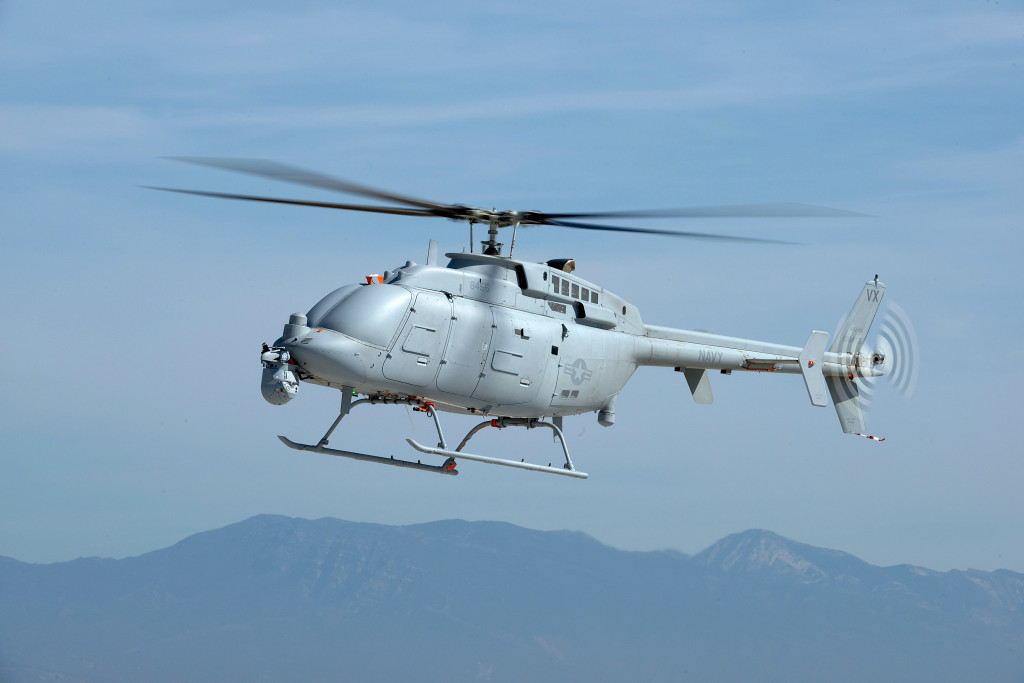 The MQ-8C Fire Scout completes a test flight at the Point Mugu Sea Range, Naval Base Ventura County (Photo by Northrop Grumman)