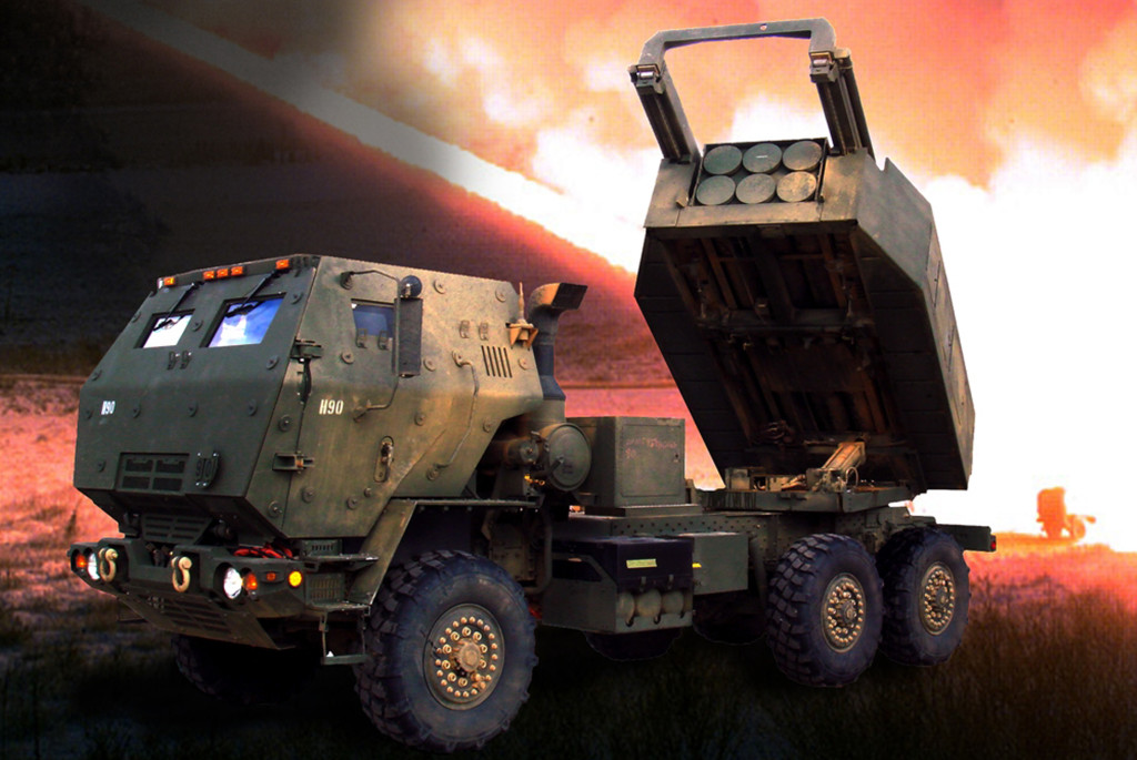 The HIMARS launcher fires MLRS rockets and ATACMS missiles