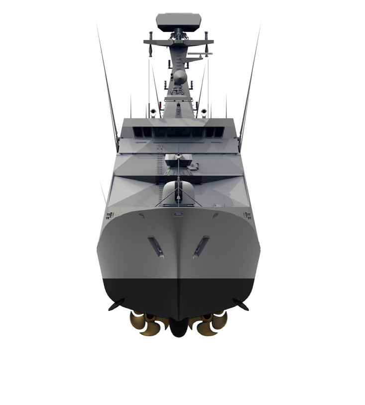 A study was carried out to evaluate the influence of different ship components on the airflow around a ship's superstructure